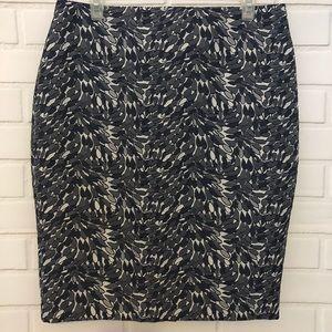 NEW Ann Taylor Blue White Embroidered Skirt $89.99